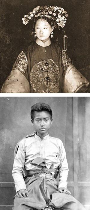 John Thompson's Manchu Bride - Young boy collage