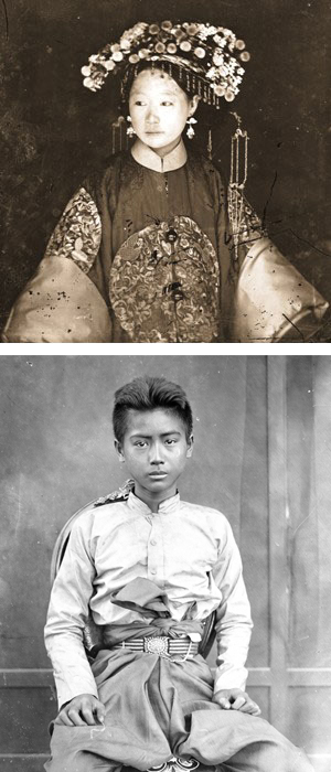 John Thompson's Manchu Bride - Young boy collage